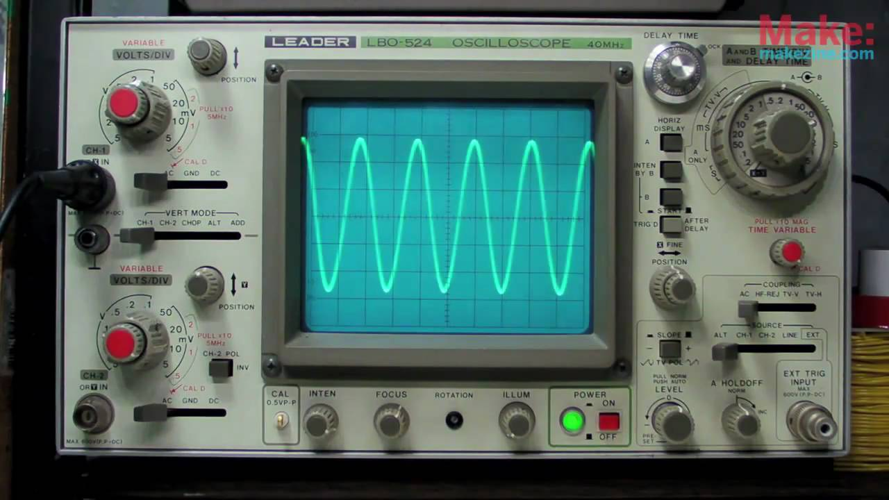 test oscilloscope